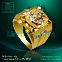 Nhẫn nam Italy vàng 18K