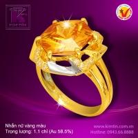 Nhẫn nữ vàng màu 14k