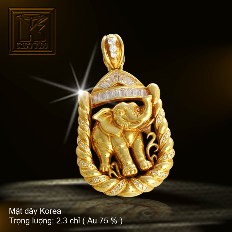 Mặt dây KOREA vàng 18K